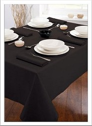 black table cloth for our folding tables - black tablecloth