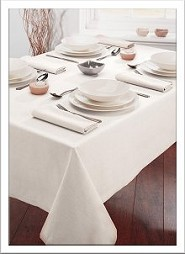 white tablecloth for our folding tables - white table cloth